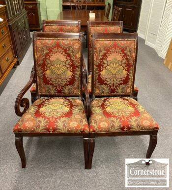 5966-723 - 4 EA Cherry Dining Chairs 2 Arm 2 Sides