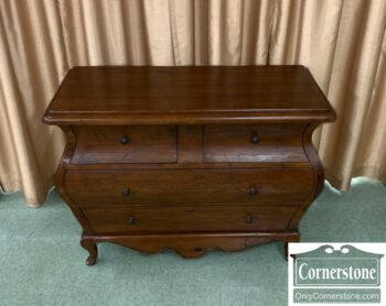5966-750 - Distressed Pine Rustic Bombe Chest