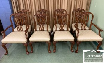 5966-766 - 8 Karges Mah Chipp Dining Chairs
