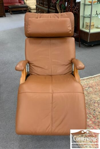 5966-769 - Human Touch Tan Leather Recliner