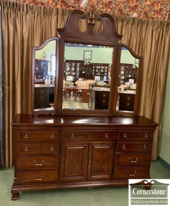 5966-804 - Triple Dresser w 3 Part Mirror