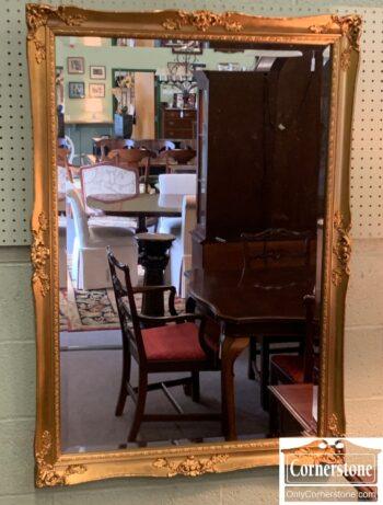 5966-828 - Gold Rectangular Mirror