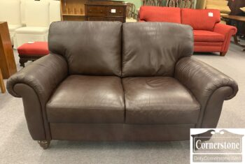 5966-837 - Italsofa Brown Leather Loveseat