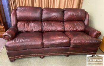 5966-863 - Hancock & Moore Brown Leath Sofa