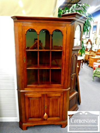 5966-87 Statton Cherry Corner Cabinet Oldtowne Finish
