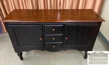 5966-870 - Black Painted Console on Legs