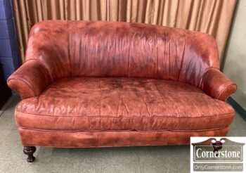 5966-930 - McKinley Cont Br Leather Sofa