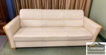 5966-931 - Ekornes Leather Off White Sofa