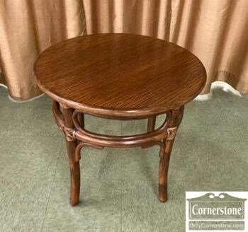 5966-948 - Round Oak Bamboo End Table
