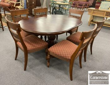 5966-950 - EA Maple Round Table 6 Chairs