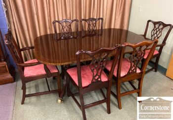 5966-954 - Council Craftsman Tbl 6 Chairs