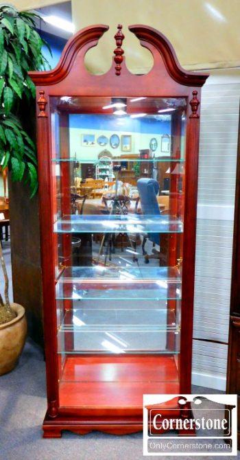 5987-4 Pulaski Cherry Finish Curio Cabinet