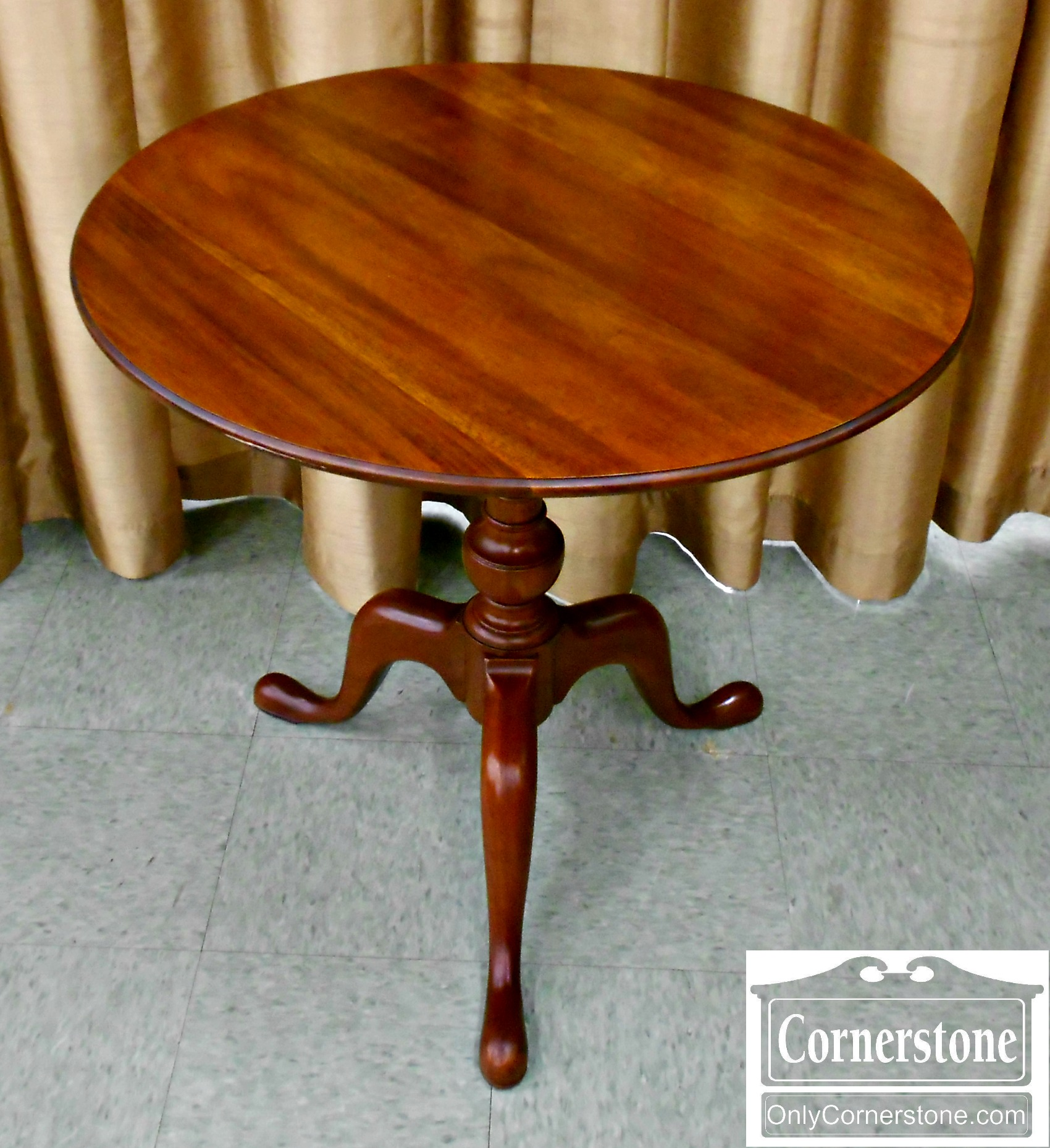 5988-4 Mahogany Tilt Top Table-1