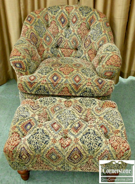 5993-2 Sam Moore Occasional Chair and Ottoman