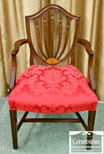 6015-1 Set of 6 Mahogany Shieldback Dining Chairs