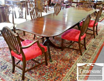 6015-1 Z Set of 6 Mahogany Shieldback Dining Chairs