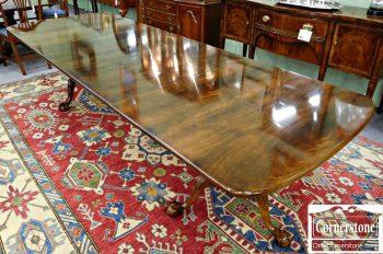6030-3 Henredon Mahogany Ball & Claw Pedestal Dining Table