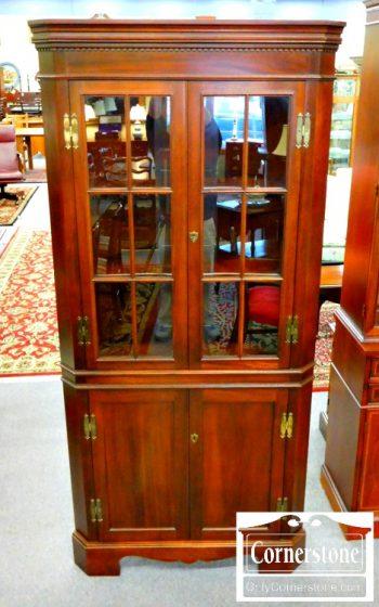 6039-1 Craftique Solid Mahogany Corner Cabinet