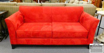 6051-12 Casual Red Microfiber Sofa