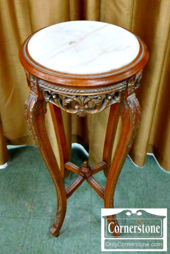 6051-35 French Style Marble Top Plant Stand