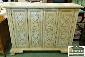 6061-1 Off White 2-Door Cabinet