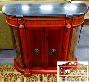 6070-4-bombay-cherry-marble-top-curio-console