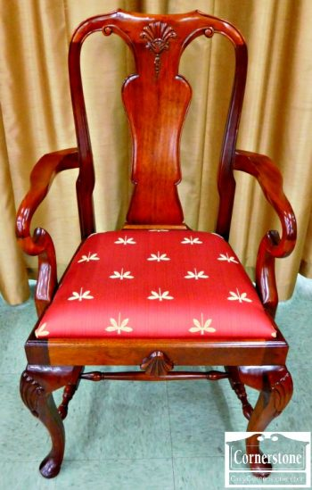6078-2 Set of 8 Solid Cherry Queen Anne Dining Chairs