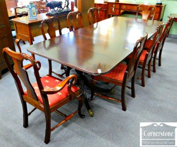 6078-2 Z Set of 8 Solid Mahogany Queen Anne Dining Chairs