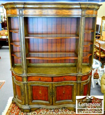 6083-1 Hooker 2 Piece Painted Hutch