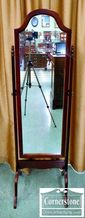 6089-1 Bombay Company Mahogany Finish Cheval Mirror