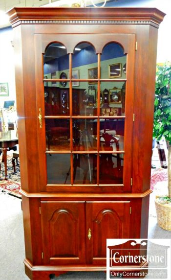 6090-1 Colonial Furniture Solid Cherry Corner Cabinet