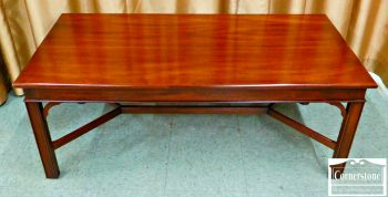 6091-1 Henkel Harris Solid Mahogany Chippendale Coffee Table in Finish #29
