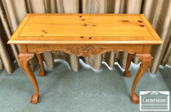 6092-2 - Pine Chippendale Sofa Table with Carving
