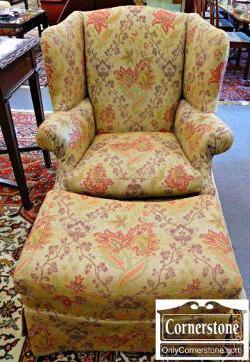 6104-2 Sherrill Wing Chair & Ottman