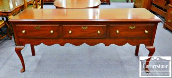 6111-2 Henkel Harris Solid Cherry Queen Anne Sideboard