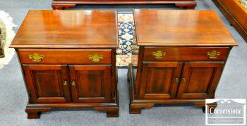 6122-2 Pair of Statton Solid Cherry Chippendale Nightstands