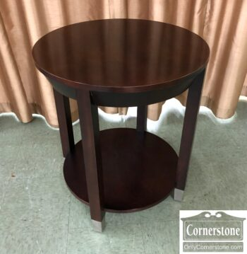 round contemporary end table