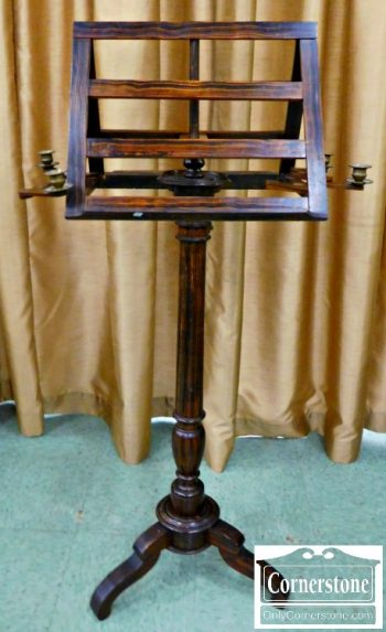 6157-3 Antique Duet Music Stand with Candle Holders