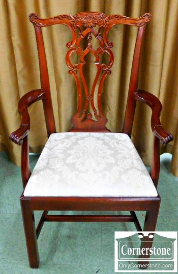 6162-1 Set of 8 Solid Mahogany Chippendale Dining Chairs