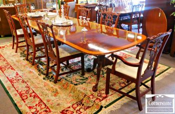 6162-1 Z Set of 8 Solid Mahogany Chippendale Dining Chairs