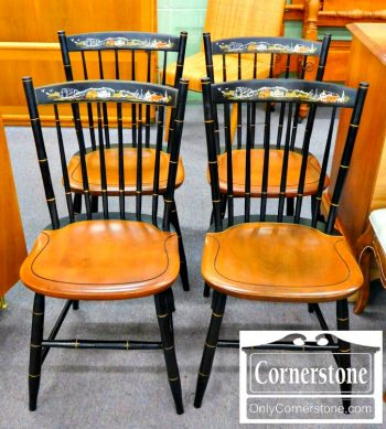 6173-1 Set of 4 Hitchcock Maple Side Chairs