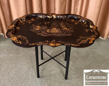 6186-198 - Back Toleware Tray Coffee Table