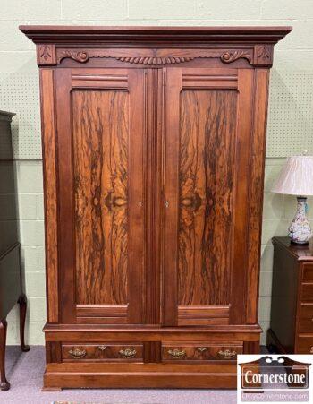 6208-9 - Walnut Victorian Armoire
