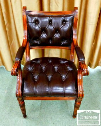 6227-3 - Theodore Alexander Leather Arm Chair