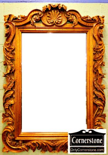6227-7 Rustic Gold Beveled Mirror