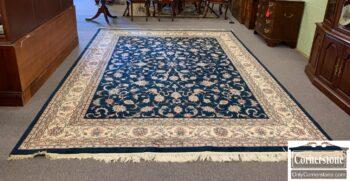 6237-8 - Hand Made Indo Blue Ivory Rug