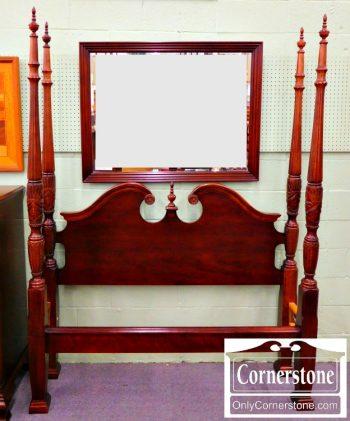 6246-4 Solid Cherry Queen Poster Bed