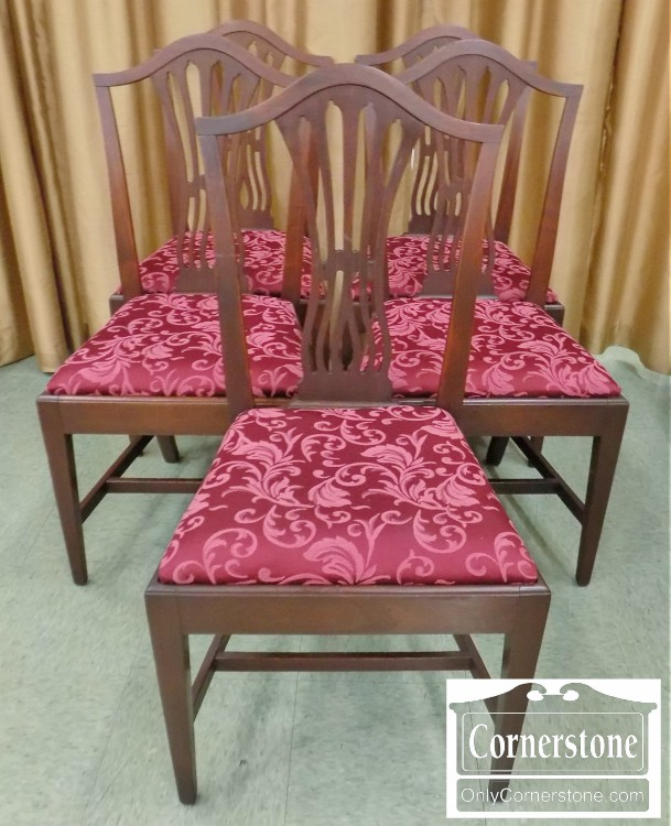 Potthast Set Of 5 Solid Mahogany Transitional Side Chairs   Sold