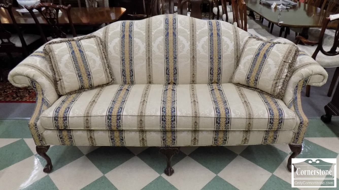 6320 1045   Clayton Marcus Chippendale Upholstered Sofa