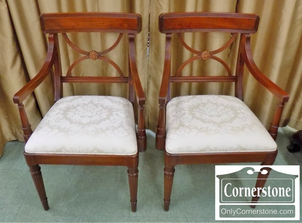 Marvelous Pair Of Statton Cherry Arm Chairs